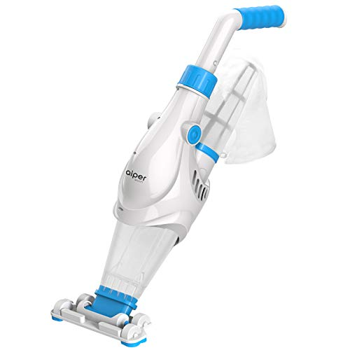 AIPER SMART Handheld Rechargeable Pool Vacuum, Cordless Pool Spa Vacuum Cleaner with Scrub Brush Head, Exclusive Bag, Ideal for Above Ground Pools, Small Pools, Spas and Hot Tubs