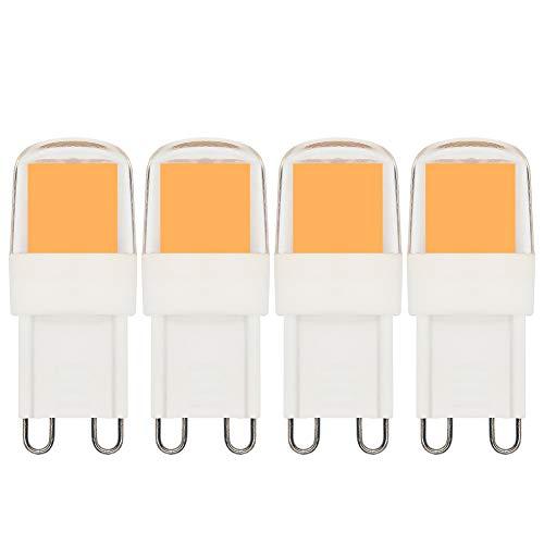 Leuchtmittel G9 LED Dimmbar 3 W 20 W 25 W 30 W Sockel G9 Halogenlampe ersetzt Mini-Licht warmweiß 3000 K AC 220 V-240 V – 4 Stück