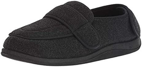 Foamtreads Men's Physician Slipper - Charcoal Color - Rubber Sole - Size 10 1/2