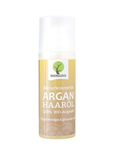 Bio Arganöl Haaröl mit frischen, fruchtigen Duft - Argan Körperöl kaltgepresst für Haare, Haut & Gesicht - 100% Vegane Naturkosmetik, Haarpflege für glanzloses, strapaziertes und trockenes Haar 50 ml