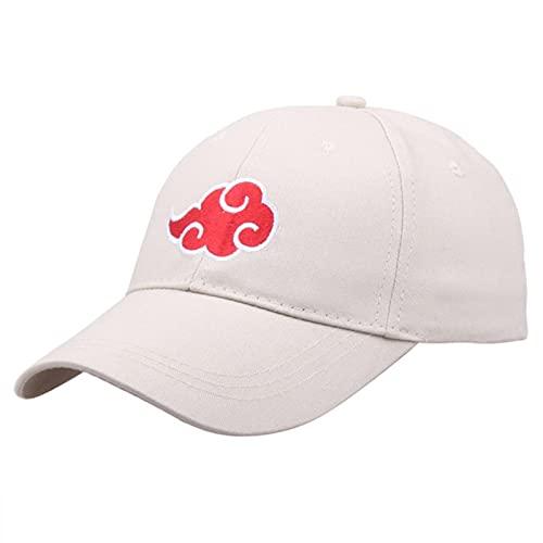 UKKD Gorra Cap Gorro Anime Hats Akatsuki Ninja Uchiha Konoha Red Cloud Symbol Gorra De Béisbol Cosplay Disfraces Accesorios