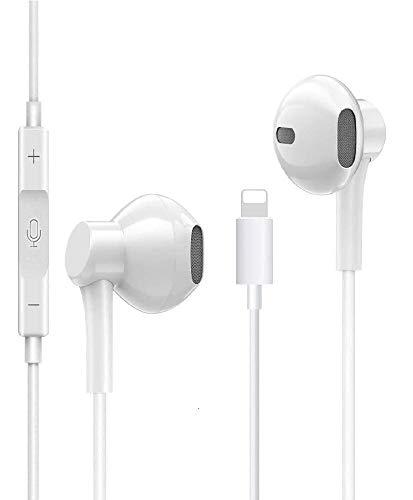 Écouteur,Ecouteurs Intra Auriculaires avec Microphone et télécommande Compatible avec iPhone 7/7 Plus 8/8 Plus/X/XR/XS Max