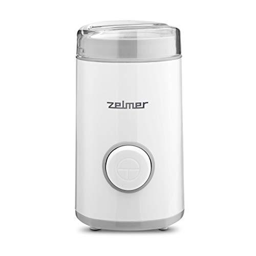Zelmer ZCG7325 Elektrische Gewürz und Kaffeemühle,Edelstahlklingen, 150W Leistung, 60g Fassungsvermögen