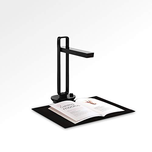 CZUR Aura Pro Escáner de Libros Plegable Portátil de Documentos, OCR Multilingüe, con Función OCR, Luz Led Superior, Lámpara de Escritorio Inteligente para Oficina y Hogar