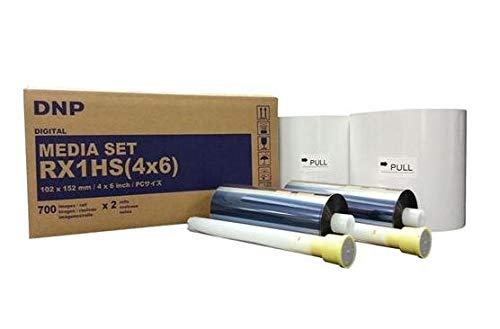"DNP 4x6"" Print Media for DS-RX1HS Dye Sub Printer; 700 Prints Per Roll; 2 Rolls Per Case (1400 Total Prints)."