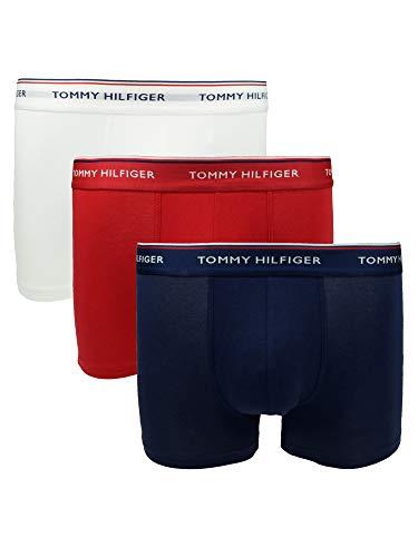 Tommy Hilfiger Herren Unterwäsche Boxershort 3er Pack Trunk Gr. L Bunt