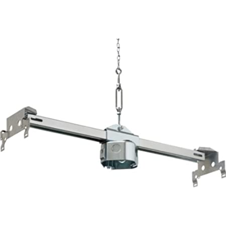 1-Pack For New Construction 16-24-inches Metallic Arlington FBRS415-1 Steel Fan and Fixture Mounting Box with Adjustable Mounting Bracket