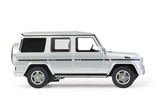 JAMARA 403911 - Mercedes-Benz G55 AMG 1:14 2,4GHz - offiziell lizenziert, ca 1 Std. Fahrzeit bei 11 Km/h, LED, Perfekt nachgebildete Details, detaillierter Innenraum, hochwertige Verarbeitung