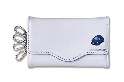 MKJP キーケース ベース:ホワイト 小 車カラー:ブルー マツダ アクセラスポーツ BM