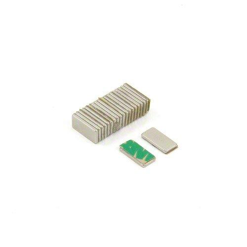 first4magnets f1051na -20 10 x 5 x 1 mm autoadhesivo con texto en inglés N42 imán de neodimio con 0,6 kg tirador (20 unidades)