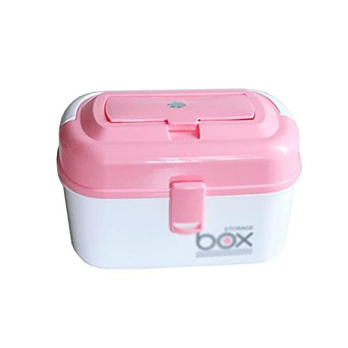 dxjsf Caja médica de plástico Caja de Primeros Auxilios portátiles Caja de Almacenamiento Caja de Medicina Caja de Medicina Caja de Medicina pequeña 10.62 Pulgadas (Color : C)