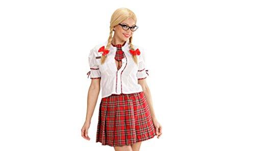 WIDMANN- Disfraz de Estudiante para Adultos, Color Rojo, 42 (77263)