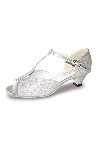 Roch Valley Aduo Standard Tanzschuhe Silber Glitzend 6.5L (40)