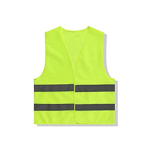 Demarkt Warnweste Reflex Weste Sicherheitsweste gelb 260 x 240 x 30 cm