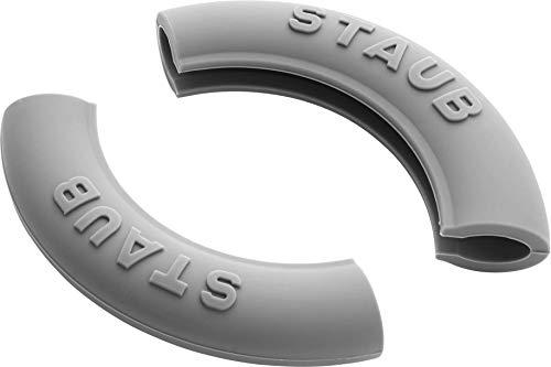 Staub 1190797 - 2 Silikongriffe rund, schwarz