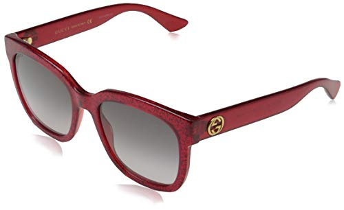Gucci dames GG0034S 006 zonnebril, rood (rood/grijs), 54