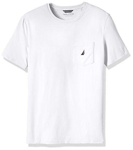 Nautica Men's Big Solid Pocket T-Shirt, Bright White, LT Tall
