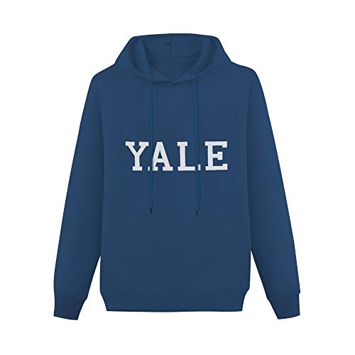 Yale University Cotton with Logo Printed Sweater for Man Navy S