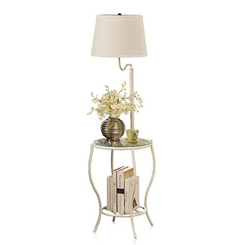 Home mall- Eisen Stehlampe | Moderne minimalistische Stil Standleuchte mit Tisch | für Wohnzimmer Schlafzimmer Arbeitszimmer (Farbe : Style#1)