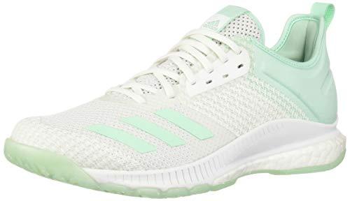 adidas Damen Crazyflight X 3 Parley Schuhe, Weiß/Klar Mint/Clear Mint, 45 EU