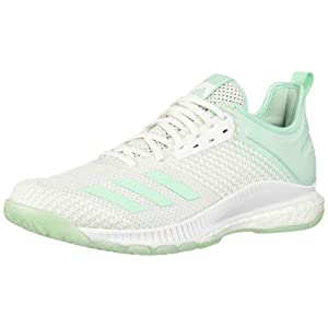 adidas Women's Crazyflight X 3 Parley Shoes, White/Clear Mint/Clear Mint, 9 M US