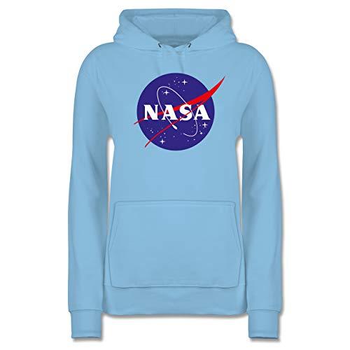 Sprüche Statement mit Spruch - NASA Meatball Logo - M - Hellblau - mädchen Pullover 176 - JH001F - Damen Hoodie und Kapuzenpullover für Frauen