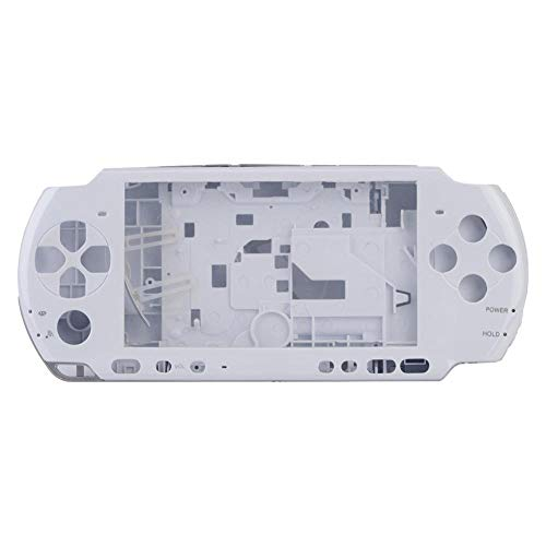ASHATA Game Shell for PSP 3000,Replacement Full Housing Console Game Shell Case Cover Repair Parts for PSP 3000 (White)