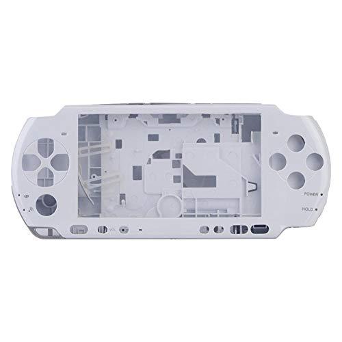 ASHATA Ersatz Gehäuse, Anti-Rutsch Full Gehäuse Shell Cover mit Button Set,Ersatzteile Reparatur Teil Gehäuse Hülle Taste Housing Shell Case Cover für PSP 3000(Weiß)