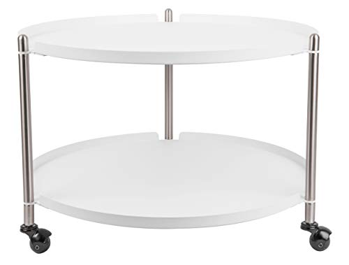 Present Time - Table Basse Blanche Mate et métal Thrill
