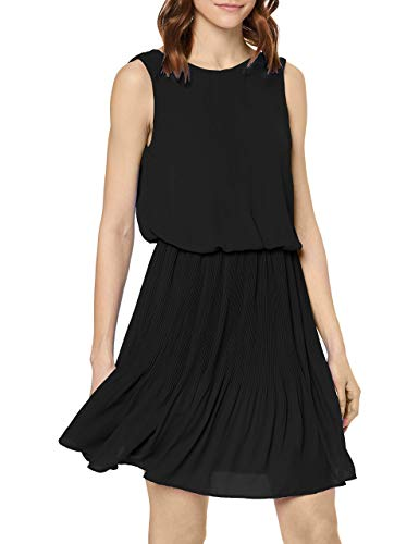 VERO MODA Damen VMJACKIE SL Short Dress WVN Kleid, Schwarz (Black Black), Large (Herstellergröße: L)