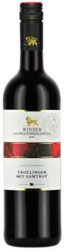 Württemberger Wein Weinsberger Tal Trollinger mit Samtrot QW halbtrocken (1 x 0.75 l)