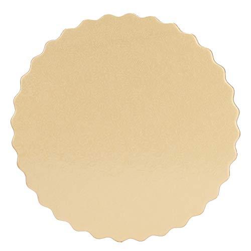 Bandeja de Postre para Tartas de Oro + Plata, decoración de Encaje, 10 Piezas, Tablero de Tartas de 0,12 Pulgadas para Muffins, Galletas, Tartas de Fresa, Tartas de Mousse(8 Inches)