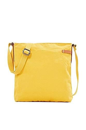 ESPRIT Mit Leder-Details: Tasche aus Canvas