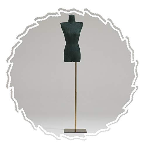 RZEMIN ZEMIN Maniquí de Costura, Accesorios Modelo Simulado Sastres Femeninos, Soporte Exhibición Escaparate Tienda con Forma Vestido, Base Cuadrada Dorada, 2 Estilos (Color : C)