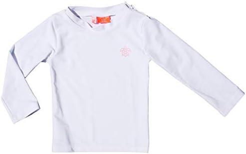 Baby Boy and Girl Long Sleeve Rashguard UPF 50 Sun Protection 9 12 M White product image
