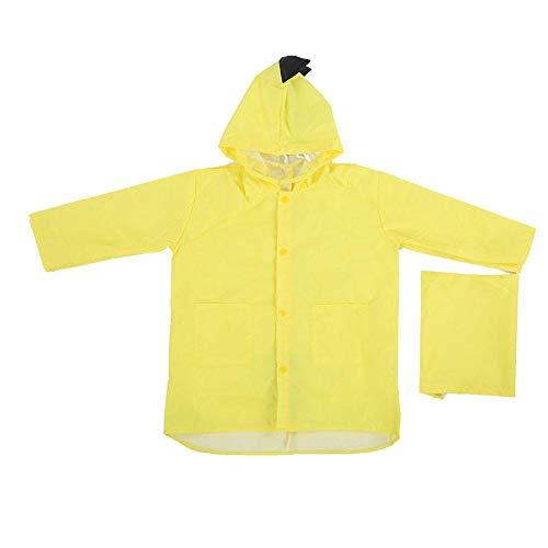 01 Cómoda Tela de PVC Impermeable para Primavera y otoño, Impermeable para la Piel, Impermeable para bebés, para niños pequeños, niñas y niños(Yellow, L)