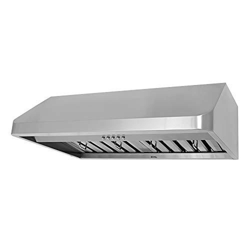 KOBE CHX9130SQB-1 Brillia 30-inch Under Cabinet Range Hood, 3-Speed, 680 CFM, LED Lights, Baffle Filters