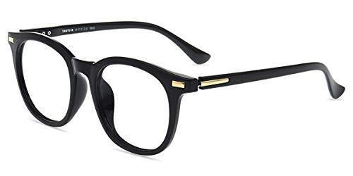 Firmoo Anti Blaulicht Brille ohne Sehstärke Damen, Herren Computer Brille mit Blaulichtfilter Entspiegelt Blend- UV Schutzbrille für Bildschirme, Schwarze Brille
