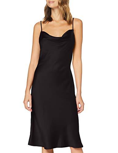 abito donna raso Marchio Amazon - find. Vestito Midi Satinato Donna