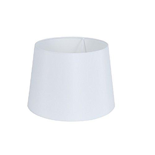 Lampenschirm weiß Ø 31cm | Stoffschirm Lampe Edel | Ersatz Leuchtenschirm für E27 und E14 | Lampenzubehör Schirm 21cm Höhe