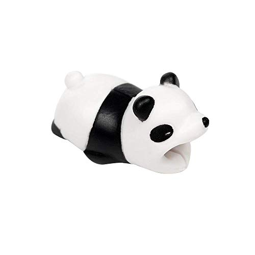 Gypsophilaa Protector de Cargador Cable para iPhone, Protector Cubre para Celular, Universal Electronics Accessories Diseno Animales(Panda)