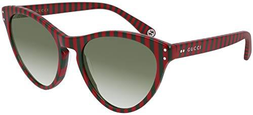 Gucci Gafas de sol GG0569S 005 Gafas de sol mujer color Rojo verde medida lente 54 mm