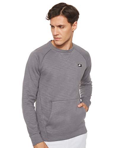 Nike Men's Sportswear Optic Crewneck Pullover, (Dark Grey/HTR, Medium)