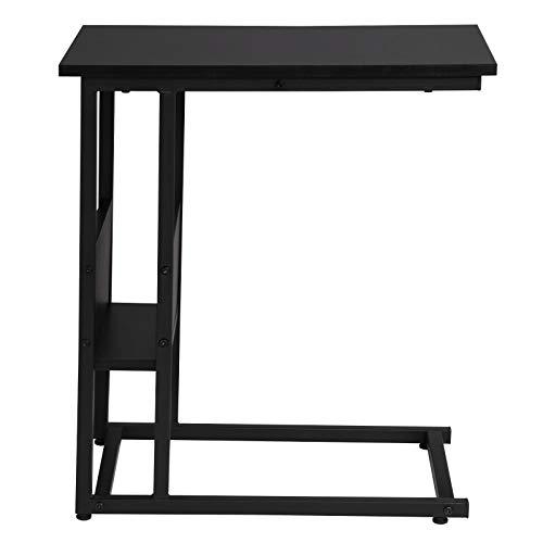 eSituro SCD0094 Beistelltisch Couchtisch Laptoptisch Nachttisch Betttisch Kaffeetisch Holz Stahl Schwarz