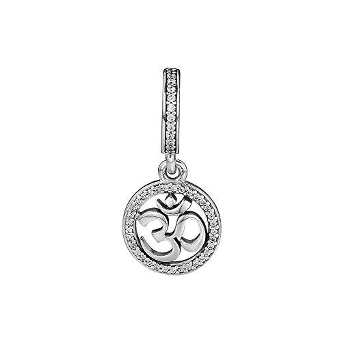 Fit Original Pandora Bracelets Diy 925 Sterling Silver Om Symbol Charm Bead Jewelry Woman Beads For Jewelry Making