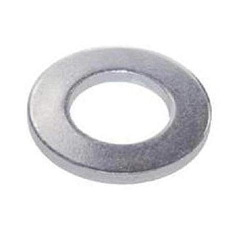 "Steel Flat Washer, Zinc Plated Finish, ASME B18.22.1, 1-3/4"" Screw Size, 1-7/8"" ID, 4"" OD, 0.180"" Thick (Pack of 5)"