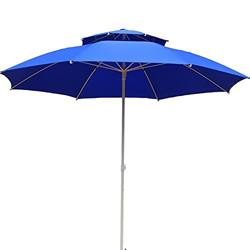 Sombrillas para Patio Sombrilla de patio con 3 capas Costillas a prueba de viento, 7 pies Paraguas de mercado Sombrilla de mesa de jardín al aire libre por Jardín/ Patio interior/ Piscina, 8 costillas