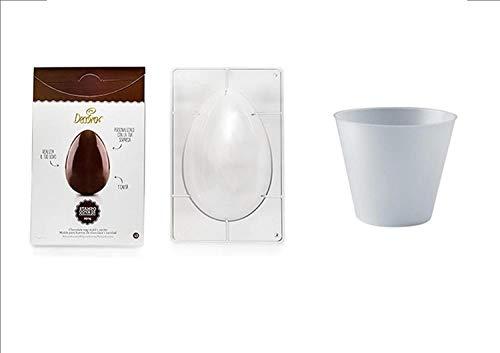 CDC- Kit N ° 2 préparation œufs de Pâques (Moule 1 cavité 250 gr + 3 bases svasate de 250 gr.)