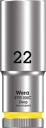 Wera 05004562001 Llave de vaso 1/2', Amarillo Brillante, 22 mm