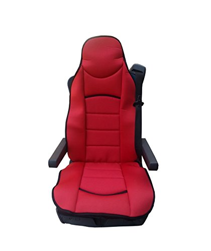 1x RED UNIVERSAL PREMIUM COMFORT PADDED SEAT COVER CUSHION FOR TRUCK CAB MOTORHOME